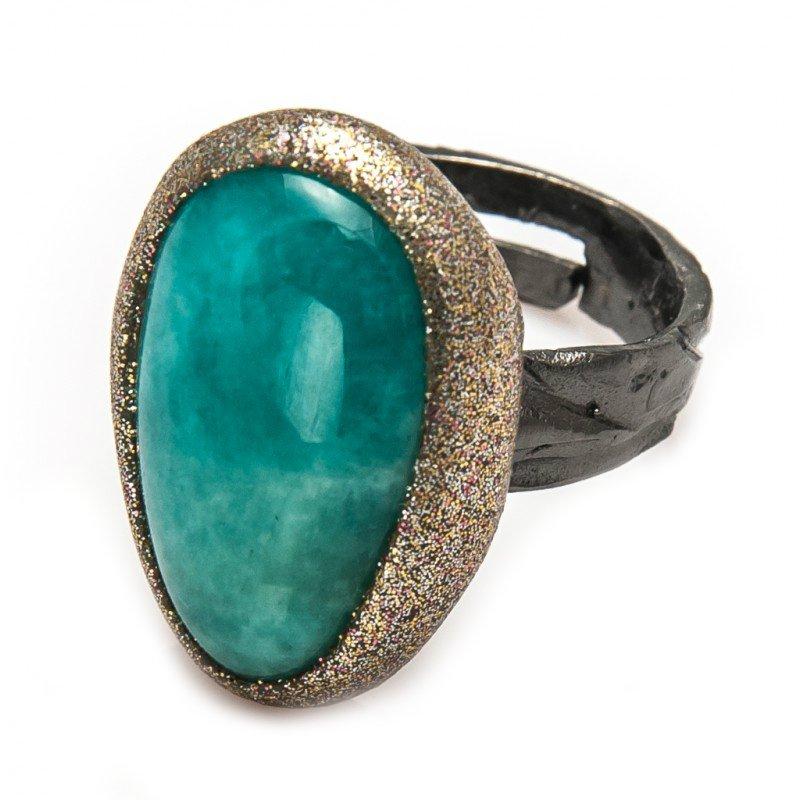 кольцо из амазонита