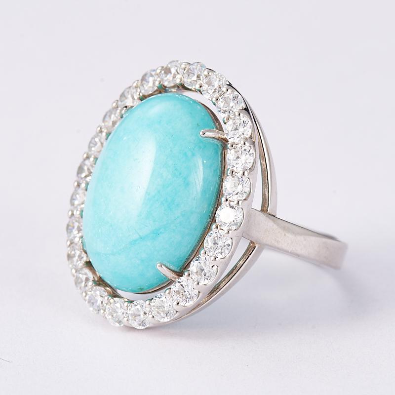 кольцо с амазонитом в серебре