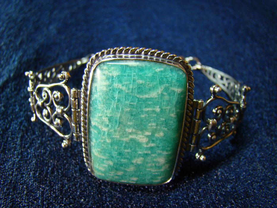 кольцо с амазонитом