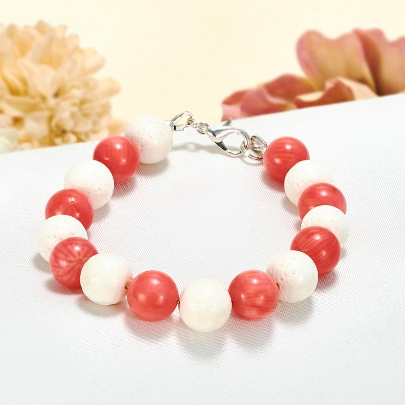 белый и розовый коралл