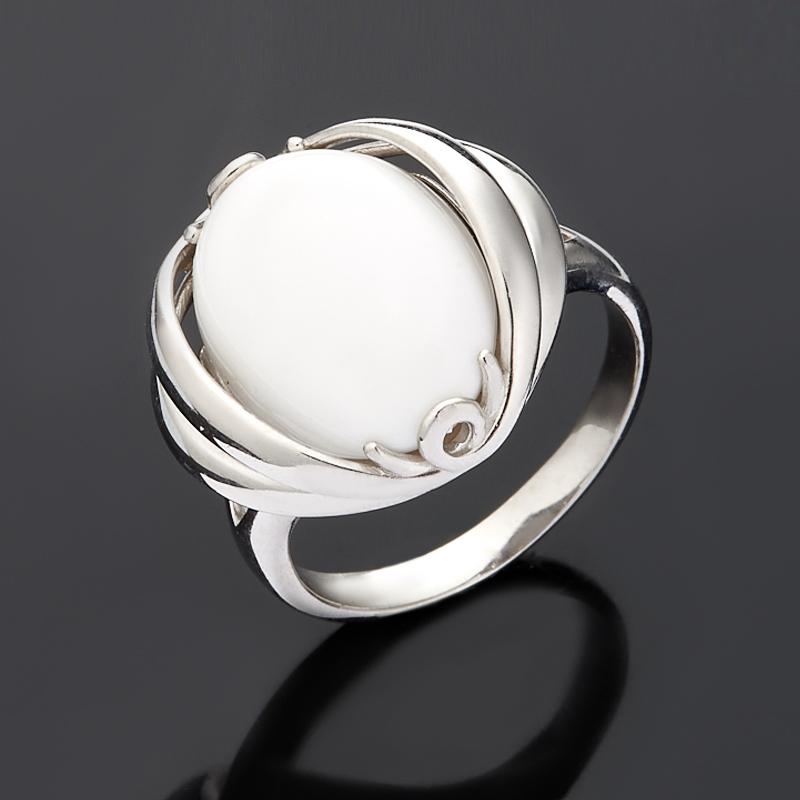 кольцо из белого опала